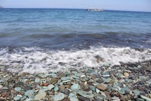 Blue pebbles beach in Moni - Flores vacation