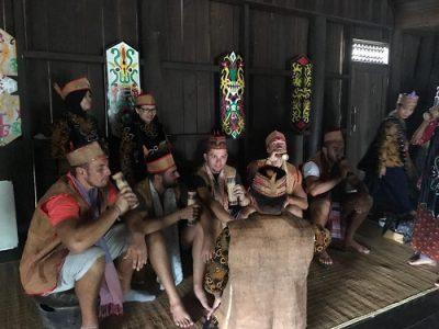 Borneo dayak village