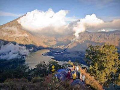 Camp at Pelawangan Mount Rinjani