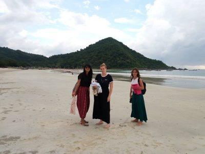 Holiday in Lombok Kuta beach
