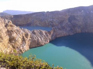 Kelimutu 3 colors lake. Flores trip