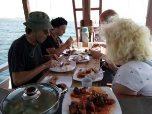 Lunch on board komodo exploration
