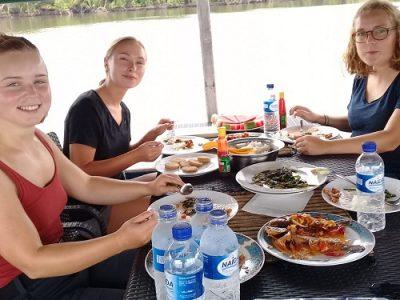 Lunch on orangutan boat trip
