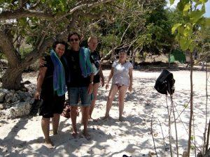 On the beach Rinca trip