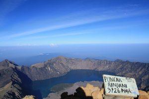 Segara anak crater lake Rinjani trekking adventure