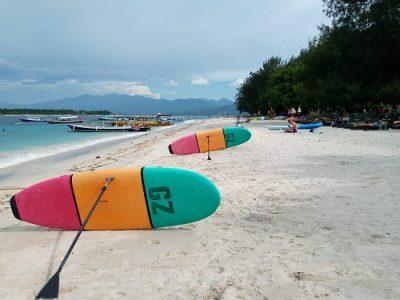 Wonderful beach in Gili Trawangan